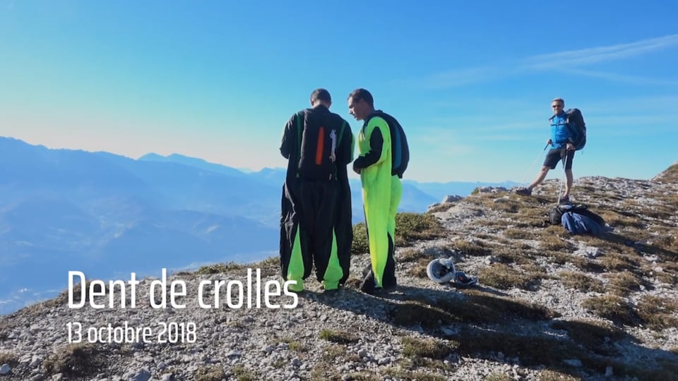 Base Jump Dent de Crolles 13 octobe 2018