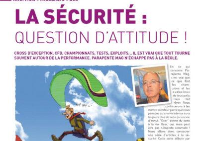 La sécurité : Question d'attitude !